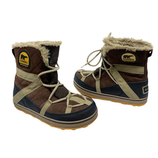Primary Photo - BRAND: SOREL STYLE: BOOTS ANKLE COLOR: BROWN SIZE: 10 OTHER INFO: GLACY EXPLORER SKU: 196-19681-74093