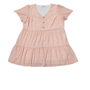 Primary Photo - BRAND:    EVRISTYLE: DRESS SHORT SHORT SLEEVE COLOR: ORANGE SIZE: 3X SKU: 196-196112-57620