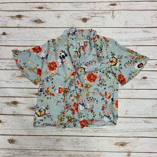 Primary Photo - BRAND: RACHEL ZOE STYLE: TOP SHORT SLEEVE COLOR: LIGHT BLUE SIZE: S OTHER INFO: ORANGE YELLOW WHITE FLOWERS SKU: 196-196132-2453