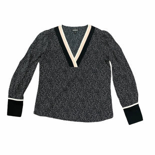 Primary Photo - BRAND: EXPRESS STYLE: TOP LONG SLEEVE COLOR: BLACK WHITE SIZE: S SKU: 196-14511-48084