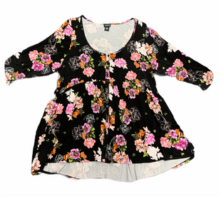 Primary Photo - BRAND: TORRID STYLE: TOP LONG SLEEVE COLOR: BLACK SIZE: 1X OTHER INFO: & PINK ORANGE SKU: 196-19694-34512