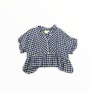 Primary Photo - BRAND: MAEVE STYLE: TOP SHORT SLEEVE COLOR: BLUE WHITE SIZE: M SKU: 196-196112-52885