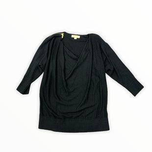Primary Photo - BRAND: MICHAEL BY MICHAEL KORS STYLE: TOP LONG SLEEVE COLOR: BLACK SIZE: L SKU: 196-19694-34971