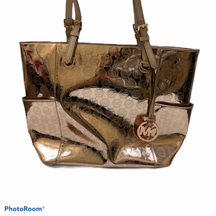 Primary Photo - BRAND: MICHAEL BY MICHAEL KORS STYLE: HANDBAG DESIGNER COLOR: GOLD SIZE: LARGE SKU: 196-19681-71980