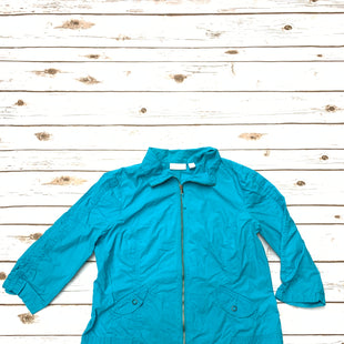 Primary Photo - BRAND: CHICOS STYLE: JACKET OUTDOOR COLOR: TURQUOISE SIZE: L SKU: 196-19666-15700
