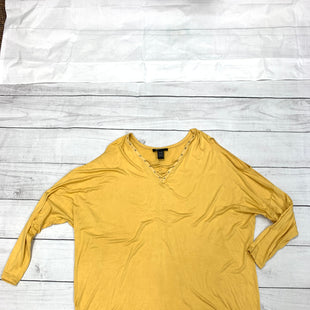 Primary Photo - BRAND: ASHLEY STEWART STYLE: TOP LONG SLEEVE COLOR: MUSTARD SIZE: 2X SKU: 196-196112-50799
