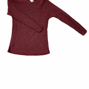 Primary Photo - BRAND: J JILL STYLE: SWEATER LIGHTWEIGHT COLOR: BURGUNDY SIZE: XS SKU: 196-196145-535