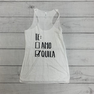 Primary Photo - BRAND: BELLA + CANVAS STYLE: ATHLETIC TANK TOP COLOR: WHITE SIZE: S SKU: 196-196136-4639