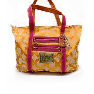 Primary Photo - BRAND: COACH STYLE: HANDBAG DESIGNER COLOR: ORANGE SIZE: LARGE SKU: 196-19681-74020
