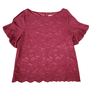 Primary Photo - BRAND: LAUNDRY STYLE: TOP SHORT SLEEVE COLOR: MAROON SIZE: L SKU: 196-196112-56947COLD SHOULDER