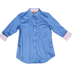 Primary Photo - BRAND: CHAPS STYLE: TOP LONG SLEEVE COLOR: BLUE SIZE: XS SKU: 196-196112-56978