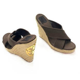 Primary Photo - BRAND: TORY BURCHSTYLE: SANDALS HIGHCOLOR: BROWNSIZE: 10OTHER INFO: BAILEY MULESKU: 145-14521-119307