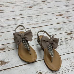 Primary Photo - BRAND: MATERIAL GIRL STYLE: SANDALS FLAT COLOR: TAN SIZE: 6.5 SKU: 196-19681-70814