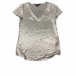 Primary Photo - BRAND: WHITE HOUSE BLACK MARKET STYLE: TOP SHORT SLEEVE BASIC COLOR: SILVER SIZE: S SKU: 196-19681-72758