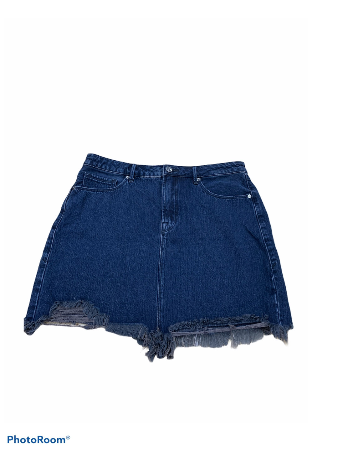 Primary Photo - BRAND: GOOD AMERICAN <BR>STYLE: SKIRT <BR>COLOR: DENIM <BR>SIZE: 12 <BR>SKU: 196-14511-47763
