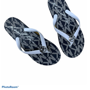 Primary Photo - BRAND: MICHAEL BY MICHAEL KORS STYLE: FLIP FLOPS COLOR: BLUE WHITE SIZE: 8 SKU: 196-196112-54945