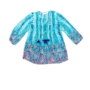 Primary Photo - BRAND:    BELLE BY KIM GRAVELSTYLE: TOP LONG SLEEVE COLOR: BLUE GREEN SIZE: XXS SKU: 196-196112-58353