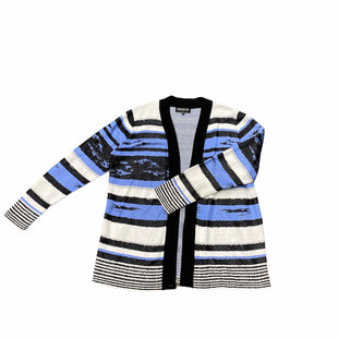 Primary Photo - BRAND: JONES NEW YORK STYLE: SWEATER CARDIGAN LIGHTWEIGHT COLOR: BLACK WHITE SIZE: 1X SKU: 196-196132-2961