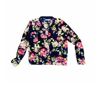 Primary Photo - BRAND: LIZ CLAIBORNE STYLE: JACKET OUTDOOR COLOR: BLUE SIZE: S OTHER INFO: FLOWERS SKU: 196-19694-35490