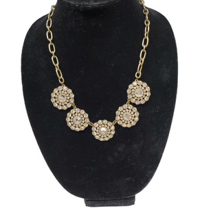 Primary Photo - BRAND: J CREW O STYLE: NECKLACE COLOR: GOLD OTHER INFO: CLEAR STONES SKU: 196-196112-55974