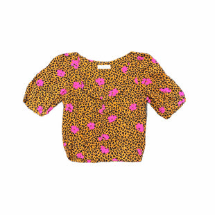 Primary Photo - BRAND: ELODIE STYLE: TOP SHORT SLEEVE COLOR: ANIMAL PRINT SIZE: S SKU: 196-196112-54109