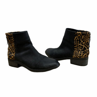 Primary Photo - BRAND: SPERRY STYLE: BOOTS ANKLE COLOR: BLACK SIZE: 10 OTHER INFO: ANIMAL PRINT TRIM SKU: 196-196112-56957AS IS