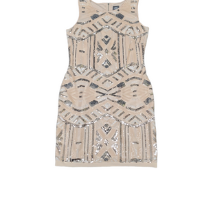 Primary Photo - BRAND: VINCE CAMUTO STYLE: DRESS SHORT SLEEVELESS COLOR: BEIGE SIZE: L SKU: 196-196112-59110