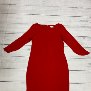 Primary Photo - BRAND: CALVIN KLEIN STYLE: DRESS SHORT LONG SLEEVE COLOR: RED SIZE: M SKU: 196-19681-70991