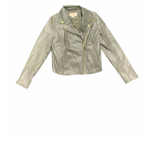 Primary Photo - BRAND: MICHAEL BY MICHAEL KORS STYLE: JACKET LEATHER COLOR: OLIVE SIZE: M SKU: 196-14511-47094