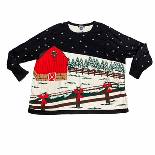 Primary Photo - BRAND: LANDS END STYLE: TOP LONG SLEEVE COLOR: BLACK RED SIZE: 3X OTHER INFO: HOLIDAY SKU: 196-19694-34562