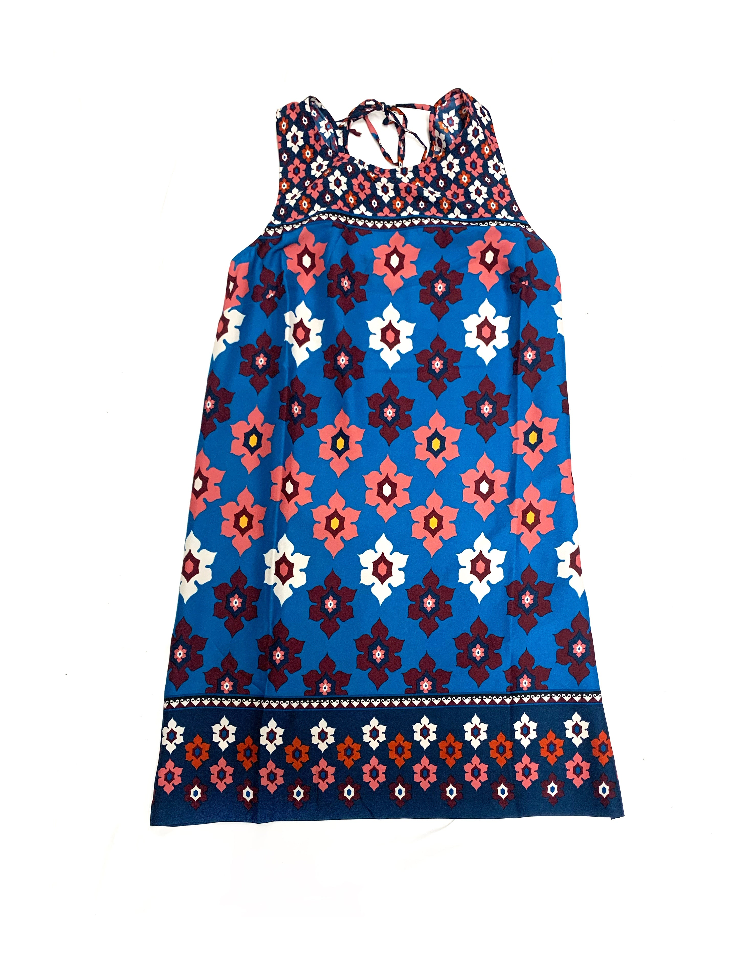 Primary Photo - BRAND: ANN TAYLOR LOFT<BR>STYLE: DRESS SHORT SLEEVELESS<BR>COLOR: BLUE RED<BR>SIZE: S<BR>SKU: 196-196139-310