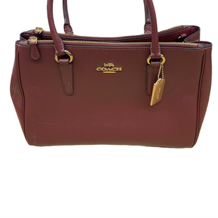 Primary Photo - BRAND: COACH STYLE: HANDBAG DESIGNER COLOR: BURGUNDY SIZE: LARGE SKU: 196-196145-1579