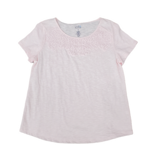 Primary Photo - BRAND: CROFT AND BARROW STYLE: TOP SHORT SLEEVE COLOR: PINK SIZE: PETITE  MEDIUM SKU: 196-196112-56985
