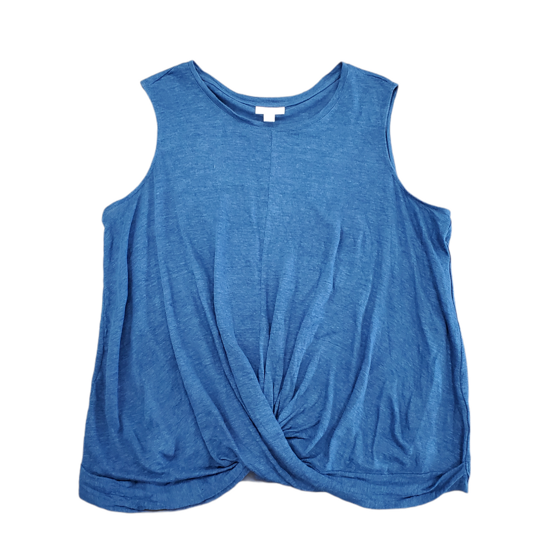 Primary Photo - BRAND: J JILL <BR>STYLE: TOP SLEEVELESS <BR>COLOR: BLUE <BR>SIZE: 1X <BR>SKU: 196-196112-57022<BR><BR>100% LINEN