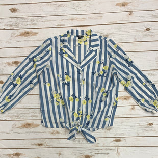 Primary Photo - BRAND: ANN TAYLOR O STYLE: TOP LONG SLEEVE COLOR: BLUE WHITE SIZE: PETITE   SMALL SKU: 196-19681-70808