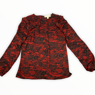 Primary Photo - BRAND: MICHAEL BY MICHAEL KORS STYLE: TOP LONG SLEEVE COLOR: RED BLACK SIZE: S SKU: 196-196136-5083