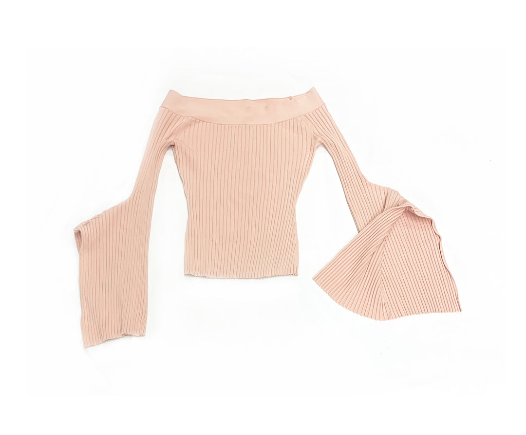 Primary Photo - BRAND: BCBGMAXAZRIA<BR>STYLE: TOP LONG SLEEVE<BR>COLOR: DUSTY PINK<BR>SIZE: XS<BR>SKU: 196-196136-3916