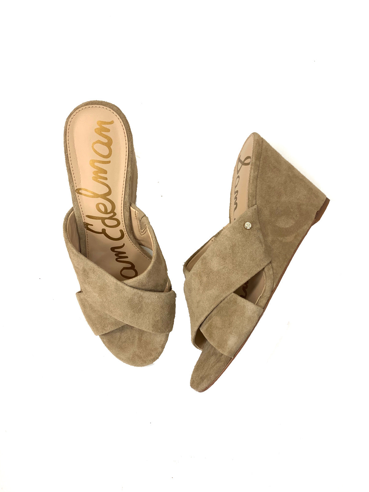 Primary Photo - BRAND: SAM EDELMAN<BR>STYLE: SANDALS LOW<BR>COLOR: TAN<BR>SIZE: 7.5<BR>SKU: 196-19681-70041