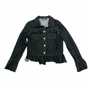 Primary Photo - BRAND: SUGAR LIPS STYLE: JACKET OUTDOOR COLOR: BLACK DENIM SIZE: XS SKU: 196-196144-388