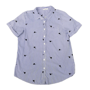 Primary Photo - BRAND: WESTPORT STYLE: TOP SHORT SLEEVE COLOR: BLUE WHITE SIZE: S SKU: 196-196112-56974