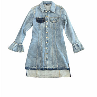 Primary Photo - BRAND: BEBE STYLE: JACKET OUTDOOR COLOR: DENIM BLUE SIZE: XS SKU: 196-19681-74923