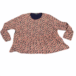 Primary Photo - BRAND:    WEDNESDAY'S GIRL STYLE: TOP LONG SLEEVE COLOR: PINKGREEN SIZE: 3X OTHER INFO: WEDNESDAYS GIRL - FLORAL PRINT SKU: 196-196132-3050