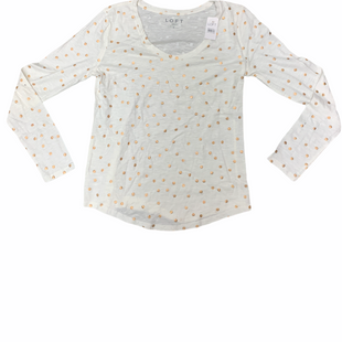 Primary Photo - BRAND: LOFT STYLE: TOP LONG SLEEVE COLOR: CREAM SIZE: S SKU: 196-19666-17939