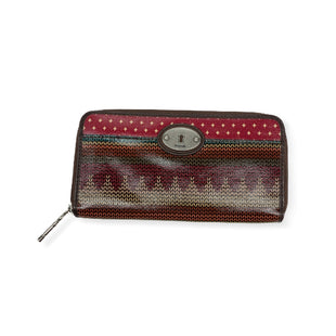 Primary Photo - BRAND: FOSSIL STYLE: WALLET COLOR: RED SIZE: LARGE SKU: 196-19681-72938