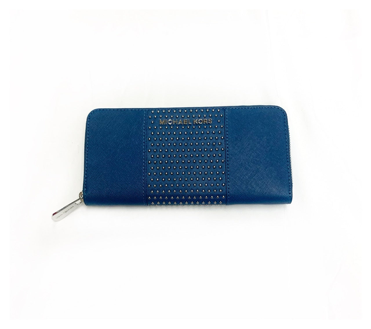 Primary Photo - BRAND: MICHAEL KORS<BR>STYLE: WALLET<BR>COLOR: BLUE<BR>SIZE: MEDIUM<BR>SKU: 196-19692-23951