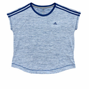 Primary Photo - BRAND: ADIDAS STYLE: ATHLETIC TOP COLOR: BLUE WHITE SIZE: M SKU: 196-196145-1231