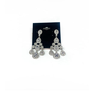 Primary Photo - BRAND: GENUINE CUBICSTYLE: EARRINGS COLOR: CLEAR SIZE: OTHER INFO: NEW! GENUINE CUBIC SKU: 145-14562-22201