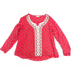 Primary Photo - BRAND: STYLE AND COMPANYSTYLE: TOP LONG SLEEVECOLOR: PINKSIZE: XLSKU: 196-19666-14317