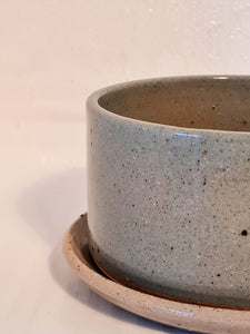 Pale Blue - Shallow Planter and Saucer