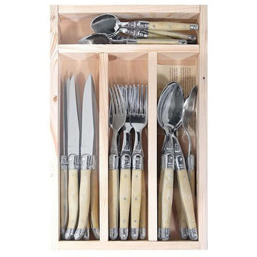 Laguiole Ivory Cutlery Set By Jean Dubost